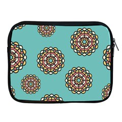 Circle Vector Background Abstract Apple iPad 2/3/4 Zipper Cases
