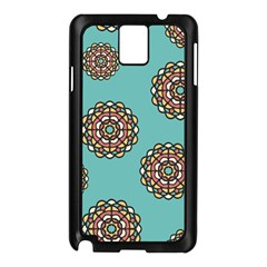 Circle Vector Background Abstract Samsung Galaxy Note 3 N9005 Case (black)