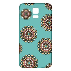 Circle Vector Background Abstract Samsung Galaxy S5 Back Case (white)
