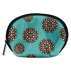 Circle Vector Background Abstract Accessory Pouches (medium)