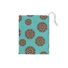 Circle Vector Background Abstract Drawstring Pouches (small)