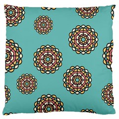 Circle Vector Background Abstract Large Flano Cushion Case (one Side)