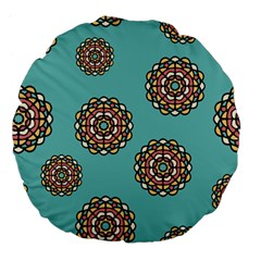Circle Vector Background Abstract Large 18  Premium Flano Round Cushions