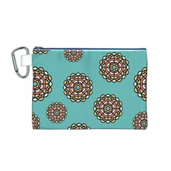 Circle Vector Background Abstract Canvas Cosmetic Bag (m)