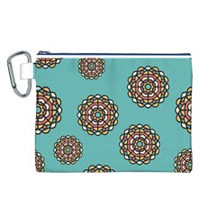 Circle Vector Background Abstract Canvas Cosmetic Bag (L)