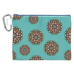 Circle Vector Background Abstract Canvas Cosmetic Bag (XXL)