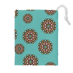 Circle Vector Background Abstract Drawstring Pouches (extra Large)