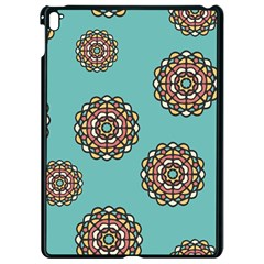 Circle Vector Background Abstract Apple Ipad Pro 9 7   Black Seamless Case