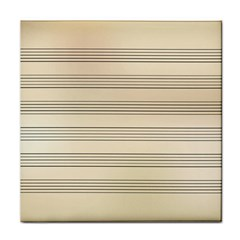 Notenblatt Paper Music Old Yellow Tile Coasters