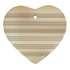 Notenblatt Paper Music Old Yellow Ornament (heart)