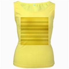 Notenblatt Paper Music Old Yellow Women s Yellow Tank Top