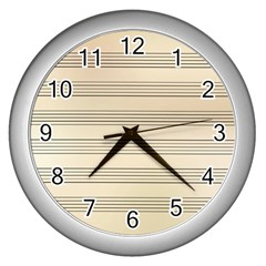 Notenblatt Paper Music Old Yellow Wall Clocks (silver)