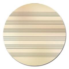 Notenblatt Paper Music Old Yellow Magnet 5  (round)