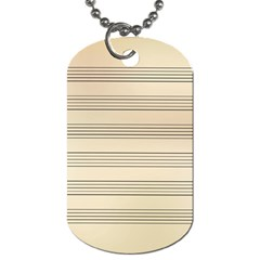 Notenblatt Paper Music Old Yellow Dog Tag (Two Sides)