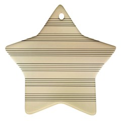 Notenblatt Paper Music Old Yellow Star Ornament (two Sides)