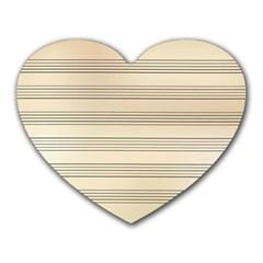 Notenblatt Paper Music Old Yellow Heart Mousepads