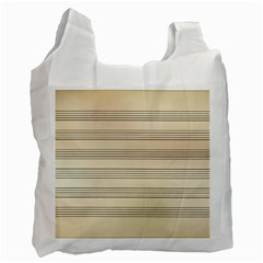 Notenblatt Paper Music Old Yellow Recycle Bag (One Side)
