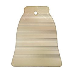 Notenblatt Paper Music Old Yellow Bell Ornament (two Sides)