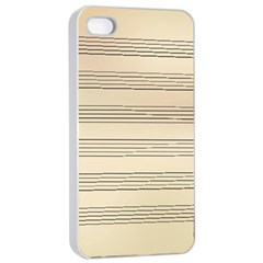 Notenblatt Paper Music Old Yellow Apple Iphone 4/4s Seamless Case (white)