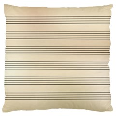 Notenblatt Paper Music Old Yellow Large Cushion Case (two Sides)