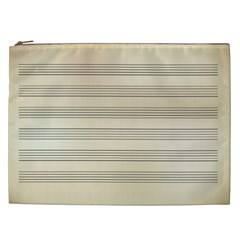 Notenblatt Paper Music Old Yellow Cosmetic Bag (xxl)
