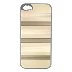 Notenblatt Paper Music Old Yellow Apple iPhone 5 Case (Silver)
