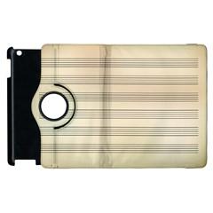 Notenblatt Paper Music Old Yellow Apple Ipad 2 Flip 360 Case