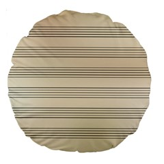 Notenblatt Paper Music Old Yellow Large 18  Premium Round Cushions