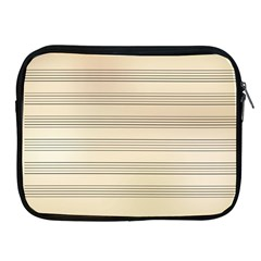 Notenblatt Paper Music Old Yellow Apple Ipad 2/3/4 Zipper Cases
