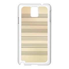 Notenblatt Paper Music Old Yellow Samsung Galaxy Note 3 N9005 Case (white)