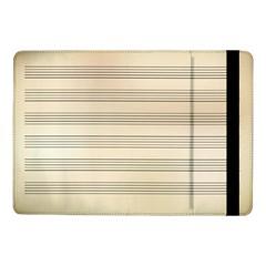 Notenblatt Paper Music Old Yellow Samsung Galaxy Tab Pro 10 1  Flip Case