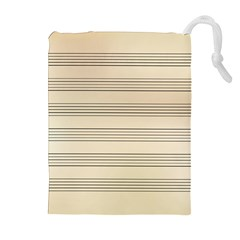 Notenblatt Paper Music Old Yellow Drawstring Pouches (Extra Large)