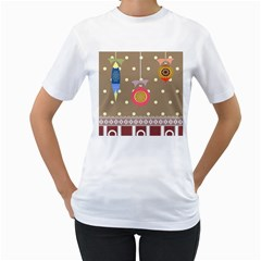 Art Background Background Vector Women s T-Shirt (White) (Two Sided)