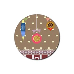 Art Background Background Vector Rubber Round Coaster (4 Pack)