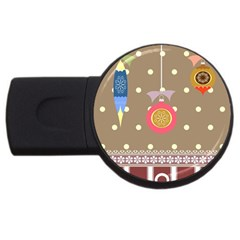 Art Background Background Vector USB Flash Drive Round (2 GB)