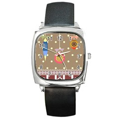 Art Background Background Vector Square Metal Watch