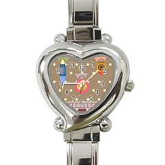 Art Background Background Vector Heart Italian Charm Watch