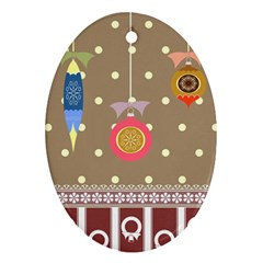 Art Background Background Vector Oval Ornament (Two Sides)