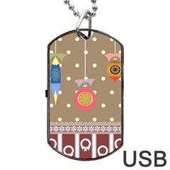 Art Background Background Vector Dog Tag Usb Flash (two Sides)