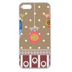 Art Background Background Vector Apple Seamless Iphone 5 Case (clear)
