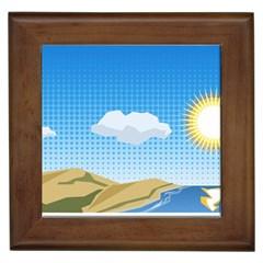 Grid Sky Course Texture Sun Framed Tiles