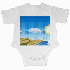 Grid Sky Course Texture Sun Infant Creepers