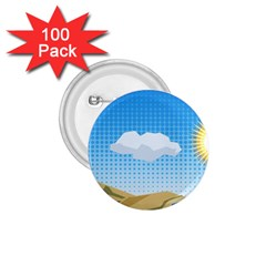 Grid Sky Course Texture Sun 1 75  Buttons (100 Pack)