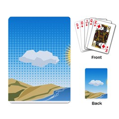 Grid Sky Course Texture Sun Playing Card
