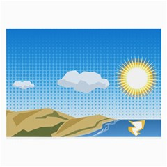 Grid Sky Course Texture Sun Large Glasses Cloth