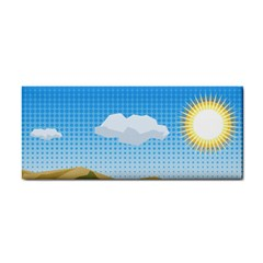 Grid Sky Course Texture Sun Cosmetic Storage Cases
