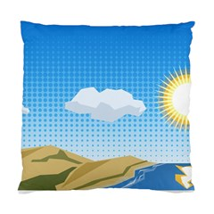 Grid Sky Course Texture Sun Standard Cushion Case (Two Sides)