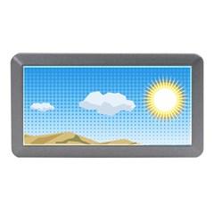 Grid Sky Course Texture Sun Memory Card Reader (Mini)