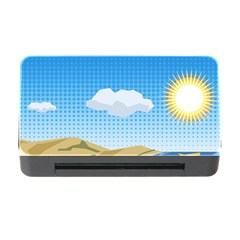 Grid Sky Course Texture Sun Memory Card Reader With Cf