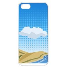 Grid Sky Course Texture Sun Apple Iphone 5 Seamless Case (white)